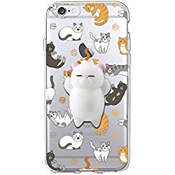 Squishy Blando 3D Animal Gato Cat iPhone 6s Case, Cute Stress Silicone Fun Kawaii Funda Carcasa Case Cover for iPhone 6 / iPhone 6s (Color-A)