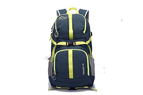 ShangYi Zaino impermeabile borsa versatile moda per gli uomini e le donne nello sport all'aperto di viaggio pacchetti 40L , orange army green