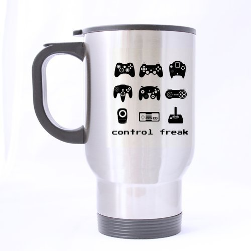 Mug(Tasses à café) for U Control Freak 8 Bit Gamer Custom Travel Mug(Tasses à café) (sliver)