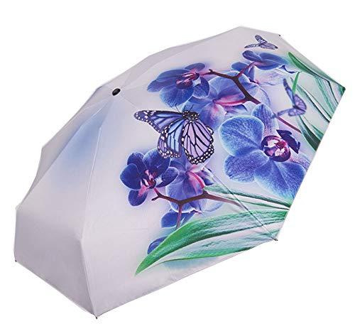 Kreativer Dreifach Gefalteter Schmetterlingsregenschirm-Sonnenschutz(Schmetterling1)
