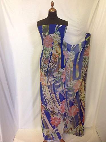 Floral Georgette Bluse (Iana Fabrics Multi Farbe Floral Abstract Chiffon Print Stoff 144,8cm 147cm Kleid)