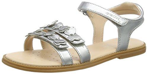 Geox Mädchen J Karly Girl I Sandal, Silber (Silver), 37 EU