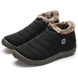 women warm snow boots winter cotton inside antiskid bottom warm fur waterproof ski boots plush casual shoes - 41WtXeONwQL - Women Warm Snow Boots Winter Cotton Inside Antiskid Bottom Warm Fur Waterproof Ski Boots Plush Casual Shoes