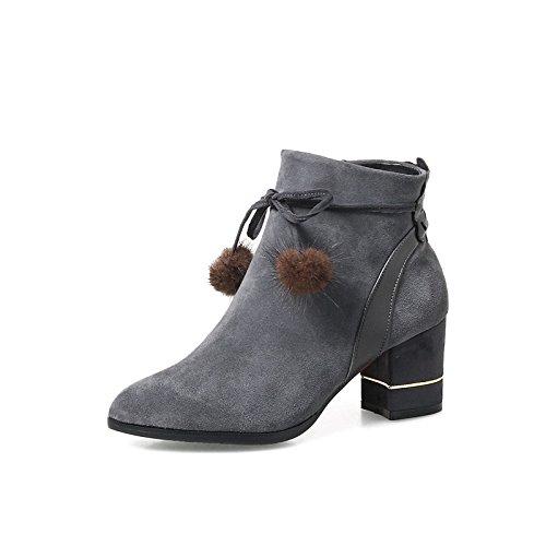 Hsxz Femmes Chaussures Nubuck Cuir Hiver Printemps Confort Bottes Chunky  Talon Toe Booties   Bowknot Cheville abf7047f2eb3