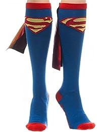 Superman Cape Chaussettes bleu/rouge/jaune