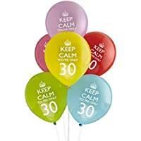 Neviti 597710 - Palloncini Keep Calm You're Only 30, 30esimo compleanno, Confezione da 8