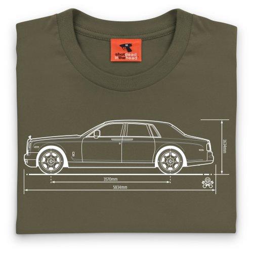 PistonHeads Phantom Luxury Car T-Shirt, Herren Olivgrn