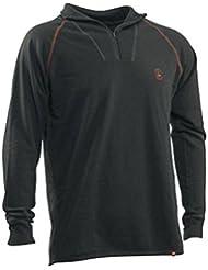 "'Deer Hunter 7111""de de lana de merino camiseta con cremallera, de 28Jungle, tamaño 4x l"