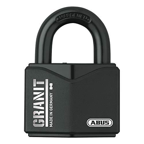 ABUS Vorhangschloss Granit 37/55 SZP Premium-Schloss für höchste Beanspruchungen - Sicherheitslevel 10 - inkl. 2 Schlüssel und Sicherungskarte - schwarz - 79123