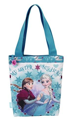 Disney Frozen - Die Eiskönigin Einkaufstasche Shopper Bag (S616), blau/weiß,31 x 30 cm