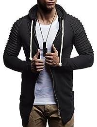 357ad4952a LEIF NELSON Herren Sweatjacke Pullover Kapuzenpullover Hoodie gesteppter  Jacke Basic Langarm Oversize Shirt Sweater LN8173