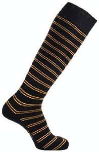 Horizon GG Men's Welly Boot Socks - Stripes Navy/Burgundy/Yellow, Size 7-11