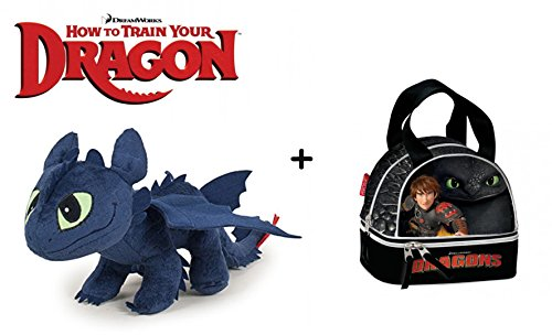 HTTYD Dragons - Peluche drago Sdentato Toothless 40cm + Snack bag