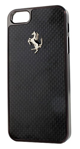 Ferrari CARBON harte Schutzhülle für Apple iPhone 6 Plus/6S Plus weiß Schwarz