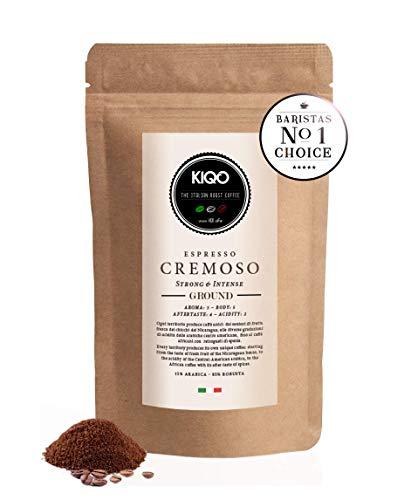 KIQO Cremoso Espresso aus Italien | in schonenden Kleinstchargen geröstet | säurearm und...