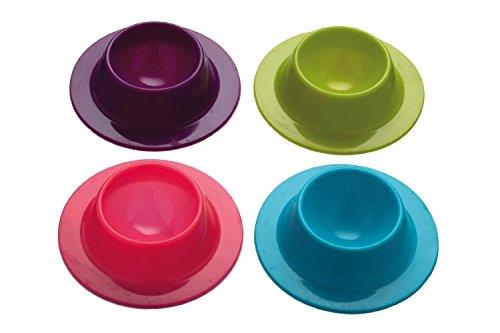 Da.Wa Lot de 4 Coquetiers en Silicone-Un ensemble (Violet, Rose,bleu, Vert) couleur aleatoire