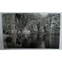 Antigua postal fotográfica. Old photo post card. Nº 19 - ZARAGOZA - Monasterio de Piedra. Lago del Espejo y Peña del Diablo