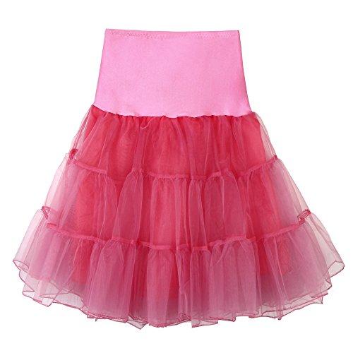 Tüllröcke Petticoat Kurze Damenrock Tutu Rock Ballet Unterkleid Unterrock Damen Knielange...