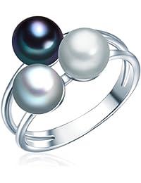 Valero Pearls - Bague - Perles de culture d'eau douce - Argent sterling 925 - Bijoux de perles - Bijoux pour femmes - En plusieurs tailles, bijoux en argent - 60020094