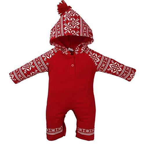 Fygrend - Rompers Newborn Baby Girls Boy Christmas Hooded Romper Baby Clothing Christmas Rompers [ 24M ]
