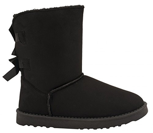 Elara Winter Boots | Bequeme Damen Stiefel | Schlupfstiefel Schwarz 38 (Winter Stiefel Neue)