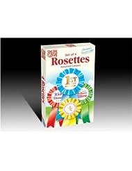 Set of 4 rosettes with 10 congratulation certificates - get set go
