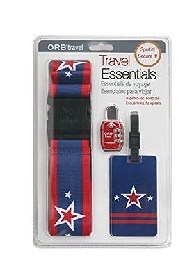 ORB Travel - Travel Essentials Kits (Blue/Red/White-Stars&Stripes TE104)