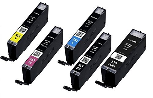 Galleria fotografica Original PGI-550PGBK, CLI-551C, CLI-551M. CLI-551Y and CLI-551BK Ink Cartridges Set for Canon Pixma iP7250, MG5450 and MG6350. WITHOUT BOX!
