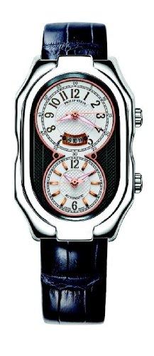 Philip Stein - 12A-BRGW-AN - Montre Mixte - Automatique Analogique - Cadran Blanc - Bracelet Cuir Noir