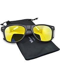 12c3dc02ea1 WHCREAT Wayfarer Unisex Occhiali da sole polarizzati Cerniera a molla  Cornice opaca UV 400 Lente di