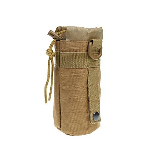 MagiDeal Outdoor Sport Nylon Molle Trinkflasche Halter Wasserflasche Tasche Aufbewahrungstasche - Braun