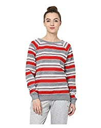 Yepme Womens Multi-Coloured Blended Sweatshirts - YPMSWEAT5105_XS