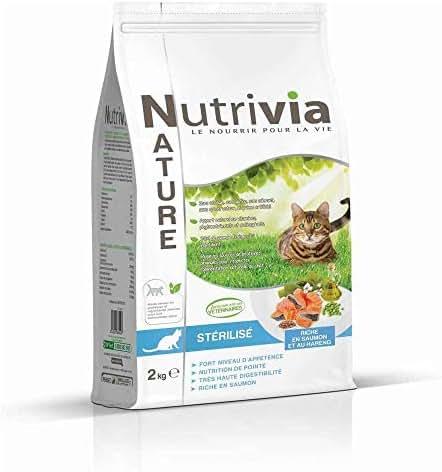 Nutrivia Nature : Croquettes Chat Adulte Stérilisé Nutrivia Nature: Saumon, 2kg