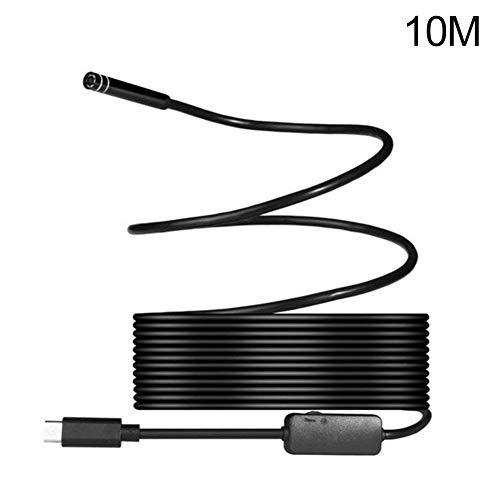 Takemore7 USB-Endoskop, Typ-C Endoskop, Inspektionskamera, IP67, wasserdichte Kamera, Schlangenkamera mit 8 einstellbaren LEDs für Android-Handys und Tablets