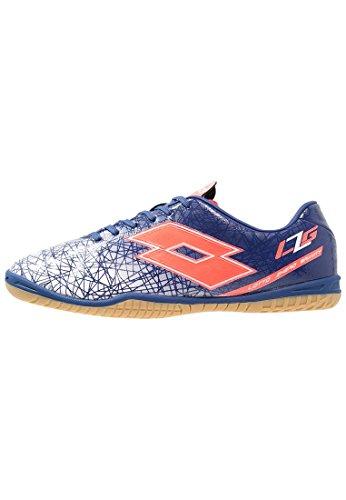 Lotto Lzg Viii 700 Id Jr, Chaussures de Football Mixte Bébé Multicolore - Azul / Rojo (Blu Twi / Red Fl)
