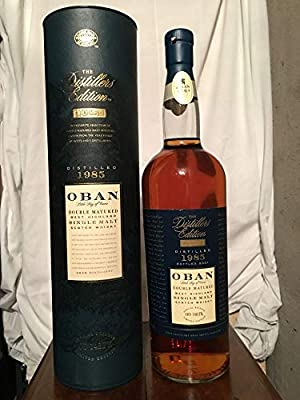 Oban 1985 Double Matured The Distillers Edition Limited Edition with case (tube) 1L