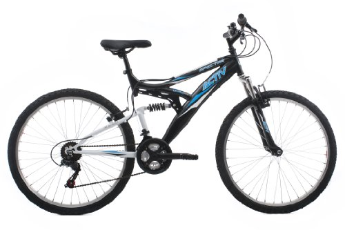 Activ by Raleigh Spectre Men's Dual Suspension Mountain Bike - Black, 18 Inch