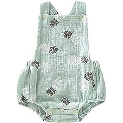 Baiomawzh Mono para bebé niños recién Nacidos Verano Monos Sin Mangas Mamelucos con Estampado Piña Pijamas Bebes niño niñas Ropa de Dormir Bodies Mameluco Jumpsuit Peleles Camiseta Trajes Ropa Casual