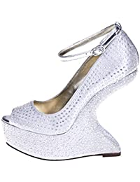 1TO3 - <p>Peep toes avec strass</p>