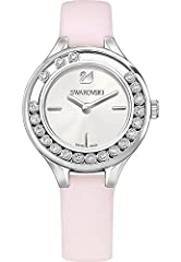 Idea Regalo - Swarovsky - Orologio Lovely, con mini cristalli, 31 mm / 19 cm, colore: Rosa