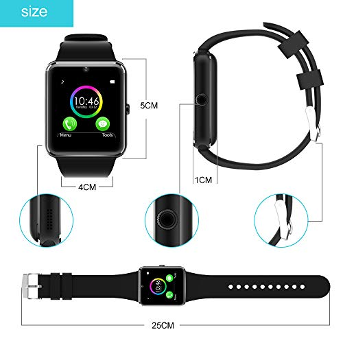 YAMAY Bluetooth Smartwatch Fitness Uhr Intelligente Armbanduhr Fitness Tracker Smart Watch Sport Uhr mit Kamera Schrittzähler Schlaftracker Romte Capture Kompatibel mit Android Smartphone - 9