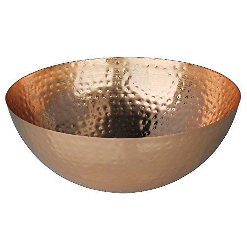 MACOSA HOME Moderne Design Dekoschale in Kupfer aus Metall. Marokkanischer Stil/Gehämmert, Deko-Schüssel, Kerzen-Teller, Dekoschüssel, Tischdekoration, Snackschale, Obstschale, Wohnaccessoire