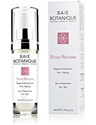 Baie Botanique Anti Ageing Face Serum - Now with 15% Botanical Hyaluronic Acid - Plumps, Hydrates & Smooths - Rosewater, Rose Absolute, Rosehip Seed Oil, Glycolic Acid - 2 in 1 Serum & Toner - Our Anti Wrinkle Serum Boosts Collagen for Beautiful and Radiant Skin - Locks in Moisture under your Face Cream - 98% Natural Now 80% Organic. (50ml)