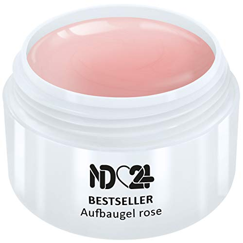 30ml - nd24 BESTSELLER - AUFBAU-GEL rosa dickviskos - UV Nagelgel - Made in Germany - säurearm selbstglättend (Gel Uv Builder)