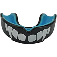 Senshi Japan ADULT Black & Blue UK Warrior 'Vampire' Mouth Gum Guard Shield - The Ultimate Gum Shield for Boxing, Martial Arts, Karate, Rugby - Ideal Teeth Protection For Contact Sports