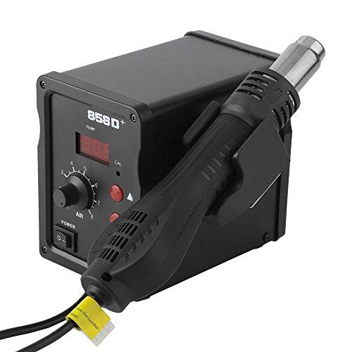 ACEHE 858D+ 700W SMD Rework Station Digitale Bleifreie Antistatik Heissluftloetstation Heissluft Löten Entloetkolben 100 ℃ -450 ℃ Hot air station