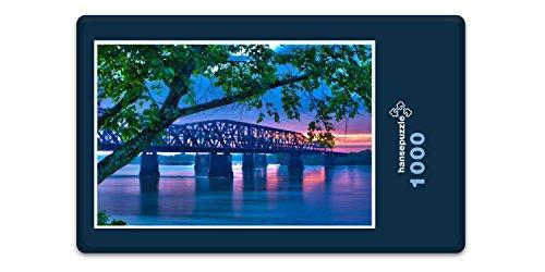 hansepuzzle 15336 Orte - Mississippi-Brücke, 1000 Teile in hochwertiger Kartonbox, Puzzle-Teile in wiederverschliessbarem Beutel. - Mississippi-brücke
