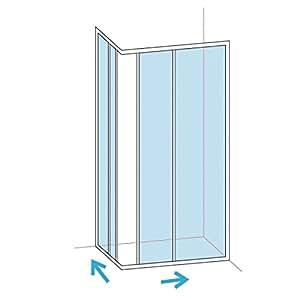 Paroi de douche accès d'angle BASIC SEGMENT blanc Larg : 66,5 - 71,5 cm Verre Transparent réf B05000WZ011AFB