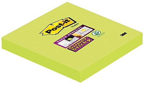 Post-It Super Sticky - Set de 6 blocs, 76 x 76 mm, color verde