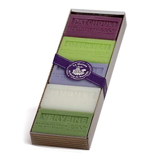 5 Verschiedene Provence Seifen Sheabutter 60g Geschenkbox -
